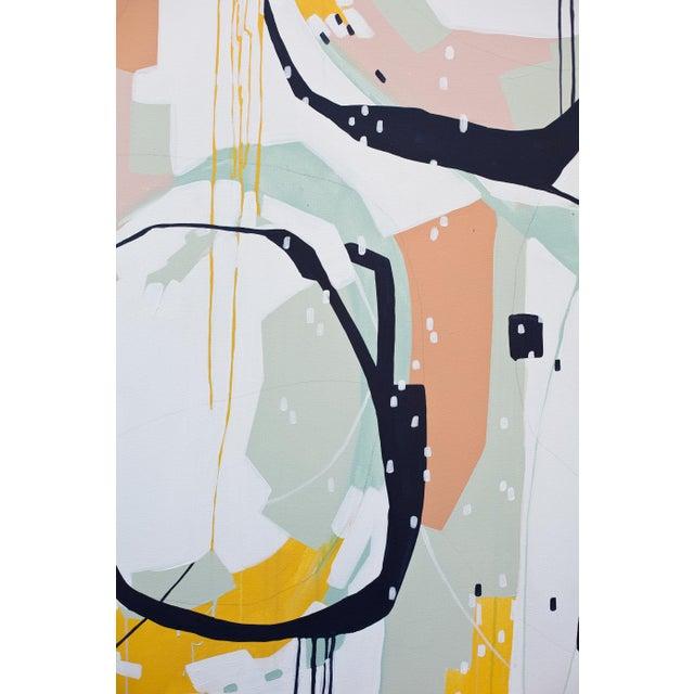 "Beth Winterburn Original Abstract - ""Sherbet Summer"" - Image 5 of 6"