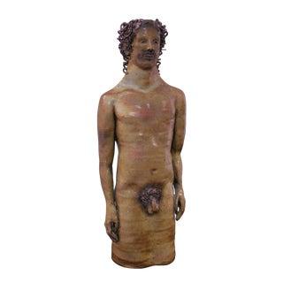 Large Studio Pottery Figural Sculptural Vase