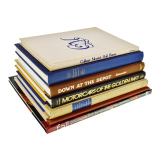 Vintage History, Art and Design Coffee Table Books - Set of 7