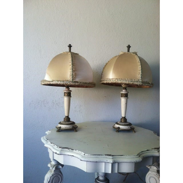 Image of Vintage French Style Table Lamps - A Pair