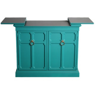 Hollywood Regency Custom Teal Buffet