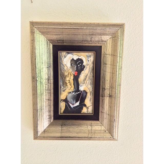 Viktor Sheleg Night Girl Oil Signed Original - Image 2 of 5