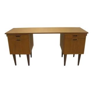 Danish Teak Desk Mid Century Modern