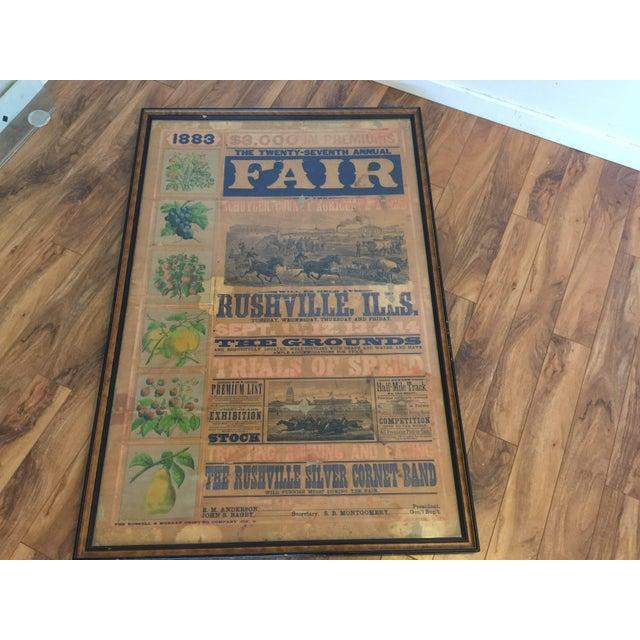 Morgan Printing Co. 1883 County Fair Poster - Image 4 of 11