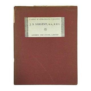 """ Famous Water Colour Painters"" 1930 Book by J. S. Sargent"