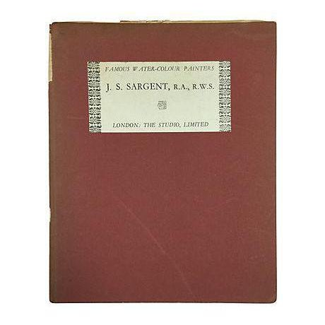 """"""" Famous Water Colour Painters"""" 1930 Book by J. S. Sargent - Image 1 of 10"""