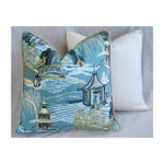 Image of Designer Chinoiserie Asian Toile Pillows - Pair