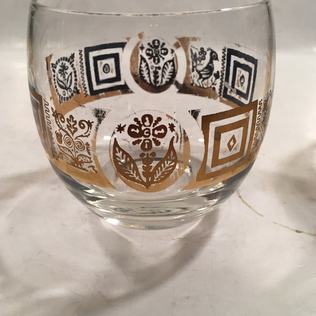 Vintage Culver Roly Poly Glasses - Set of 5 - Image 7 of 9