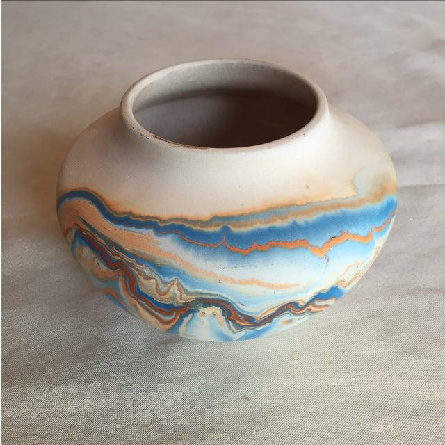 Nemadji Native American Marbelized Vase - Image 2 of 8