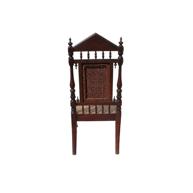 Antique Portuguese Carved Chair - Image 4 of 4