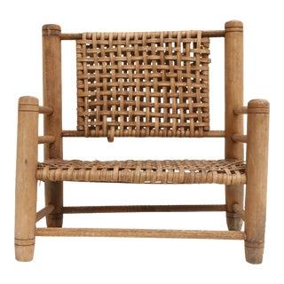 Vintage Mini Wicker Loveseat Sofa bench