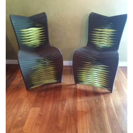 Image of Phillips Collection Seat Belt Dining Chairs - S/6