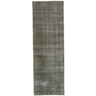 Grey Overdyed Runner Rug - 2'4 x 7'3