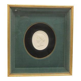 Antique Framed Bisque Cameo in Gold Frame