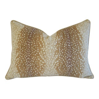 Custom Fawn Speckled Spot Velvet Pillow