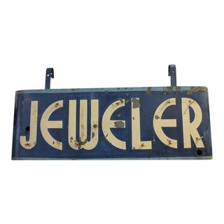 Art Deco Double Sided Jeweler Sign