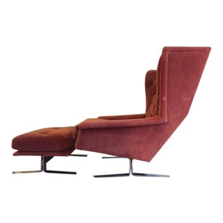 Wingback Chair With Ottoman by Adrian Pearsall