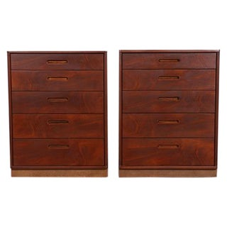 Mid Century Walnut Chests for Dunbar - Pair