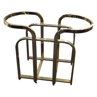 Dia Milo Baughman Brass Table Base
