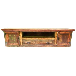 Antique Media Console Eco-Friendly Solid Wood