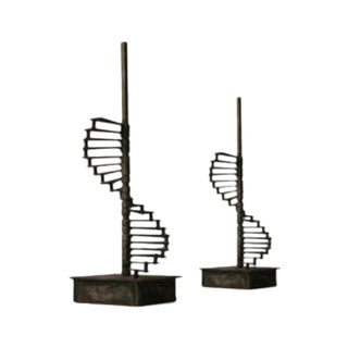 Made Goods Metal Staircase Sculptures - Pair
