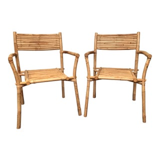 Rustic Bamboo Chairs - a Pair