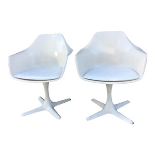 Burke Mid-Century Propeller Base Arm Chairs - A Pair