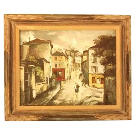 Hyung Chan Vintage Oil Painting of Paris - Image 1 of 6