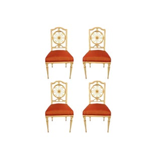 1800s Gustavian Dining Chairs - A Set of 4