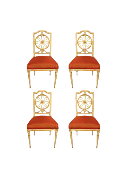 1800s gustavian dining chairs a set of 4