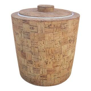 Mid-Century Cork Lidded Ice Bucket