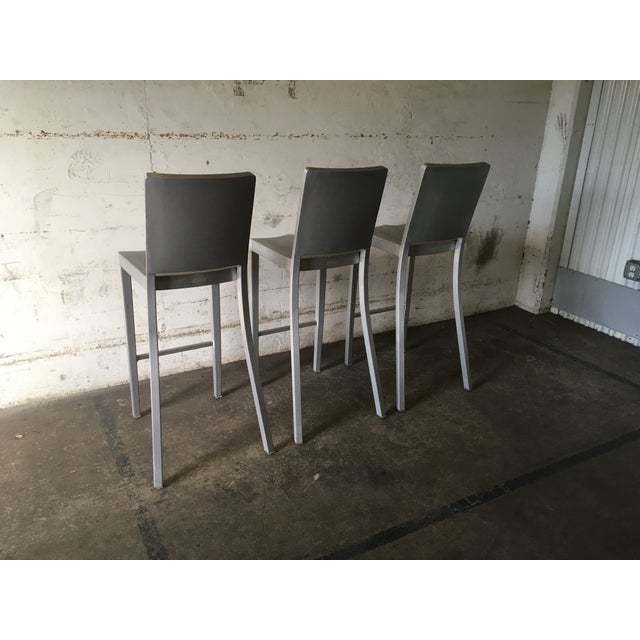 Philippe Starck for Emeco Hudson Bar Stools - Set of 3 - Image 5 of 10