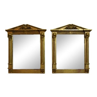 Welsh Neoclassical Giltwood Mirrors, Circa 1820- A Pair