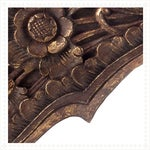 Image of Hand Carved Floral Wooden Doorway Decoration