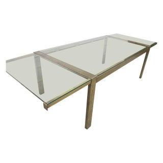 Milo Baughman Brass Extendable Table