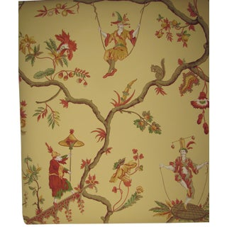 "Schumacher Williamsburg Reserve ""Jester Caprice"" Wallpaper Rolls - Set of 13"
