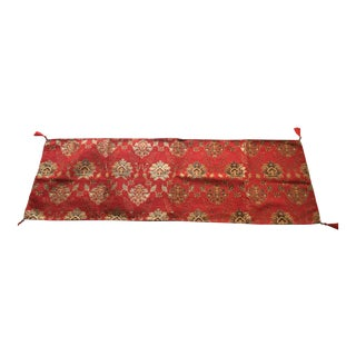 "Authentic Turkish Motif Red Velvet 54""x 18.5"" Table Runner"