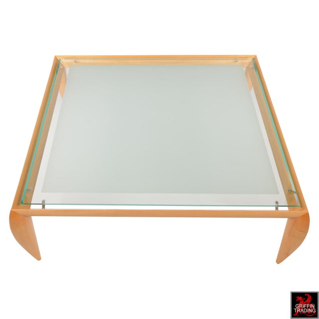 Leggins Square Glass Top Coffee Table by Brueton - Image 4 of 7