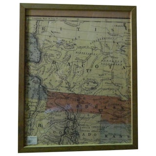 Antique North MidWest Sectional Map of the USA