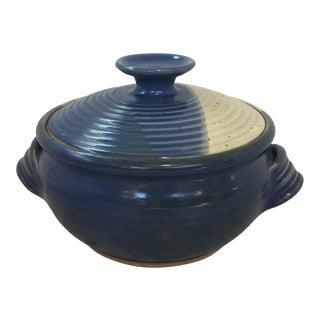 Glazed Studio Pottery Ceramic Covered Casserole or Serving Dish