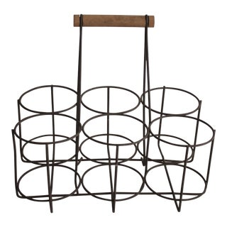 Vintage Metal Bottle Rack