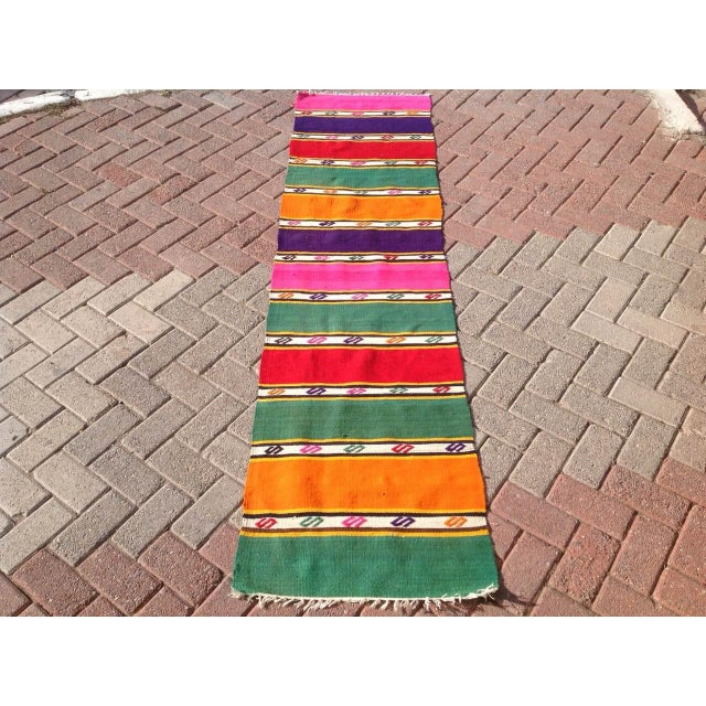 Image of Vintage Turkish Kilim Runner- 1′11″ × 9′2″