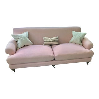 Pink Linen Willoughby Sofa