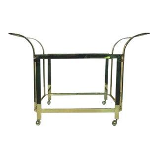 Milo Baughman Brass Bar Cart