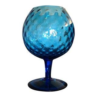 Italian Blue Glass Goblet