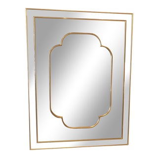 Glitzy Modern Wall Mirror with Bevelled Sections