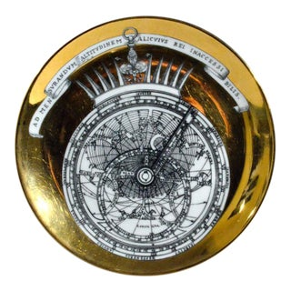 Piero Fornasetti Porcelain Astrolabe Plates in a Complete Set of Twelve.