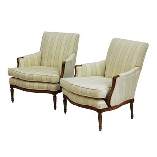 Kindel French Style Armchairs - A Pair