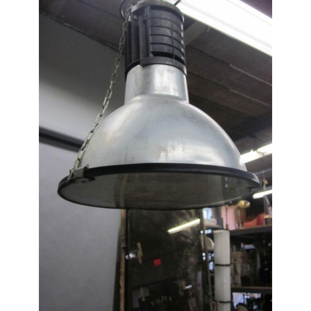 Five Large French Mid-Century Industrial Lights - Image 5 of 8