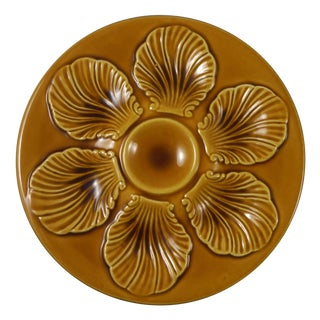 Yellow Majolica Oyster Plate